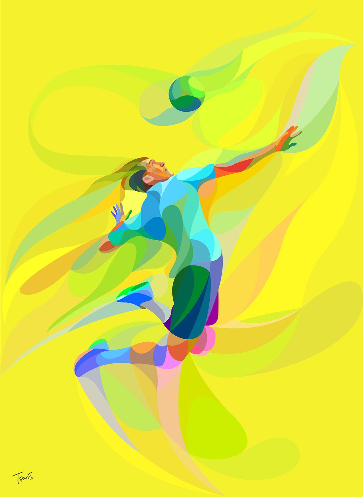 Badminton Quotes Wallpaper Waves Of Color On Behance Neofuturism Futurismo