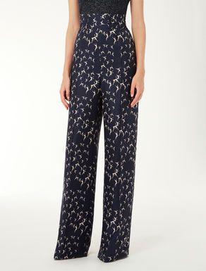 Pantaloni in twill di seta