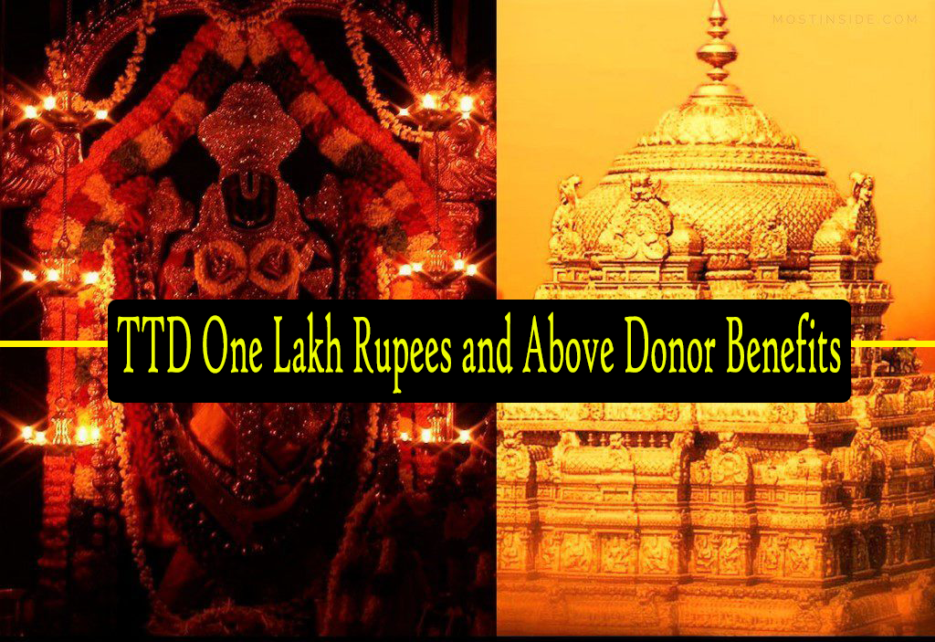 TTD One Lakh Rupees and Above Donor Benefits | TTD Cottage Donor