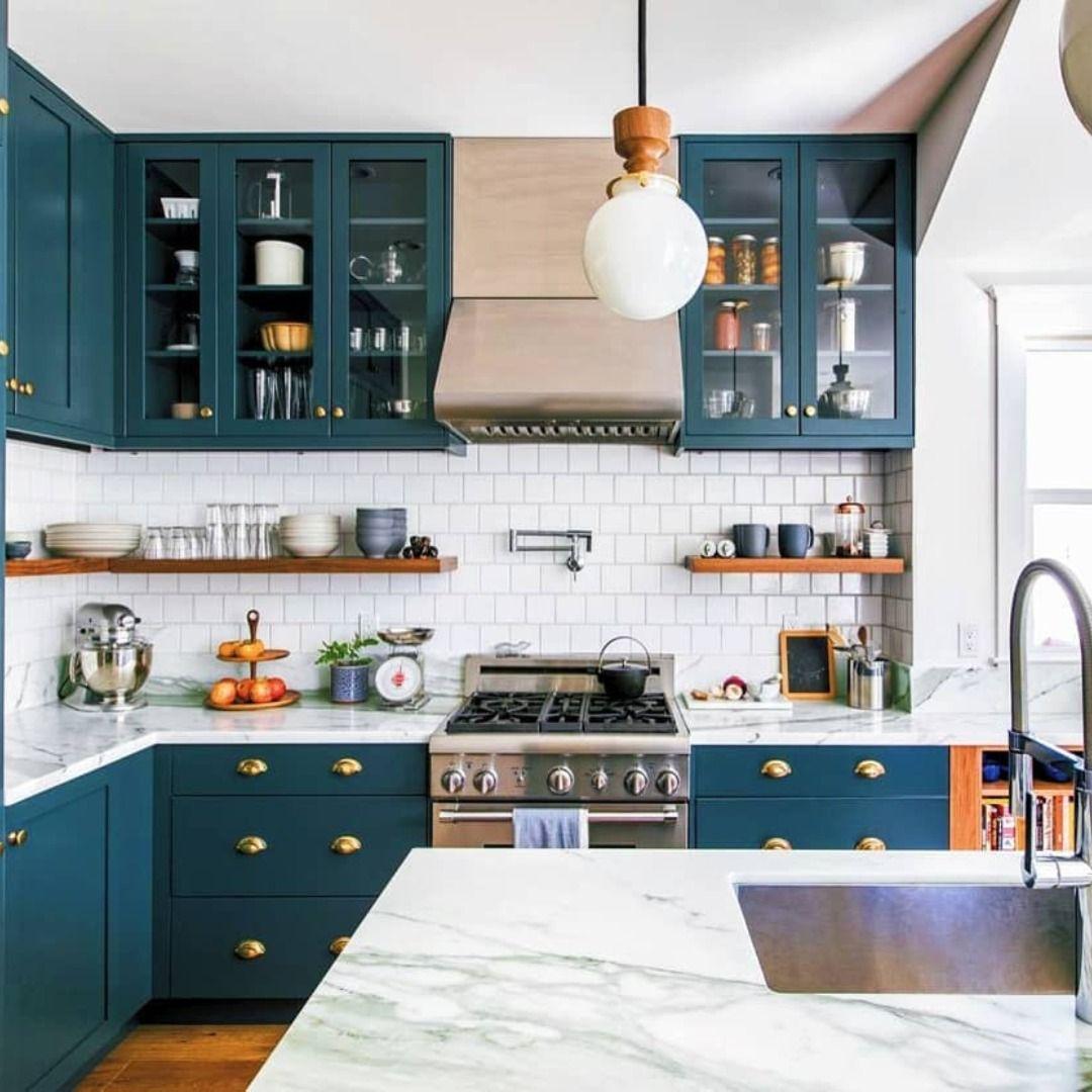 Cuisine bleu vintage scandinave en 20  Designs de petite