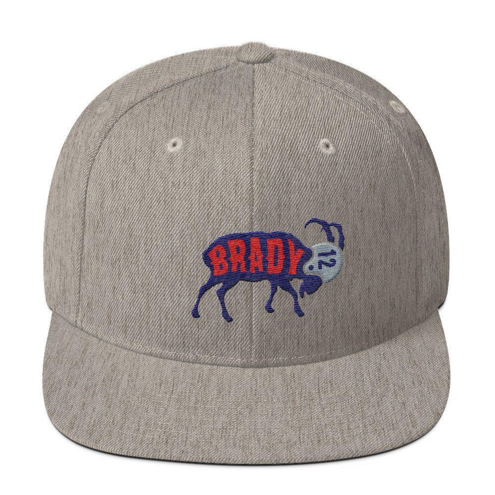 3587445619e Tom Brady The GOAT (Navy) Snapback Hat | New England Patriots Gear ...