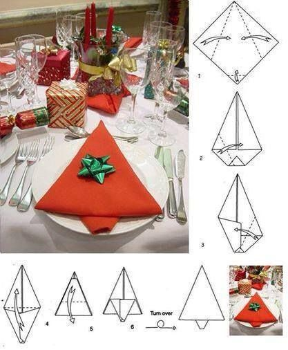 20+ Best DIY Napkin Folding Tutorials for Christmas