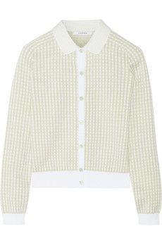 Carven Gingham cotton cardigan   NET-A-PORTER