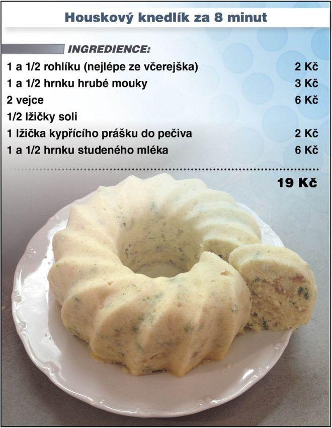 Levně a chutně - recept na Houskový knedlík