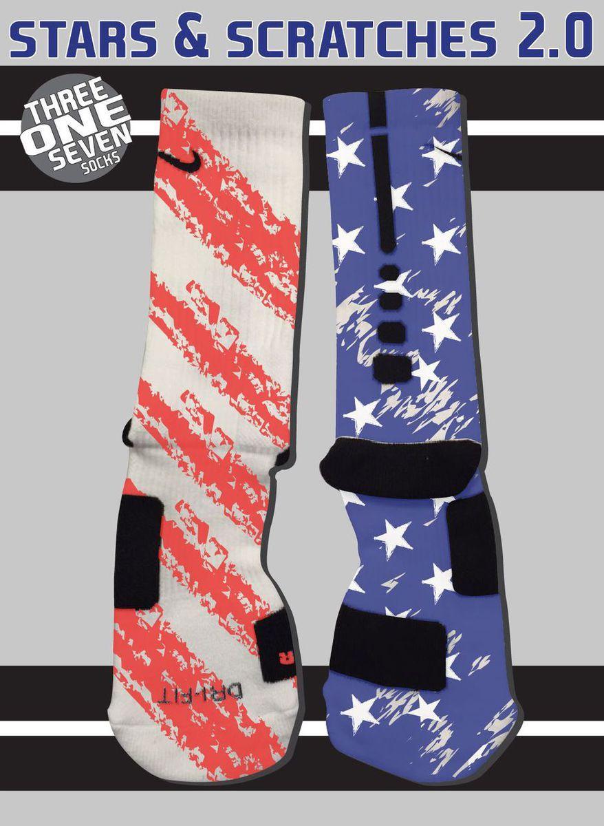 Stars & Scratches 2.0 Socks - Nike Elite Socks