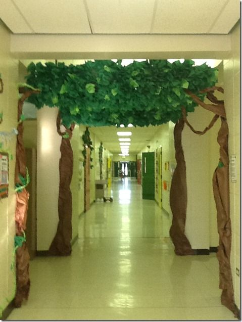 Fall Classroom Ceiling Decorations ~ Wow love the trees hanging from ceiling cre ive