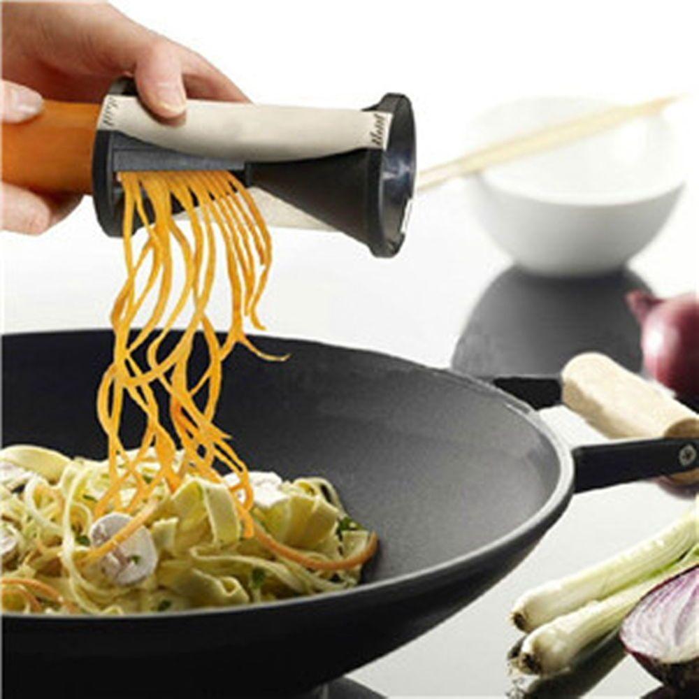 New Kitchen Tool Vegetable Spiral Slicer Cutter Spirelli Shred Spiralizer Grator
