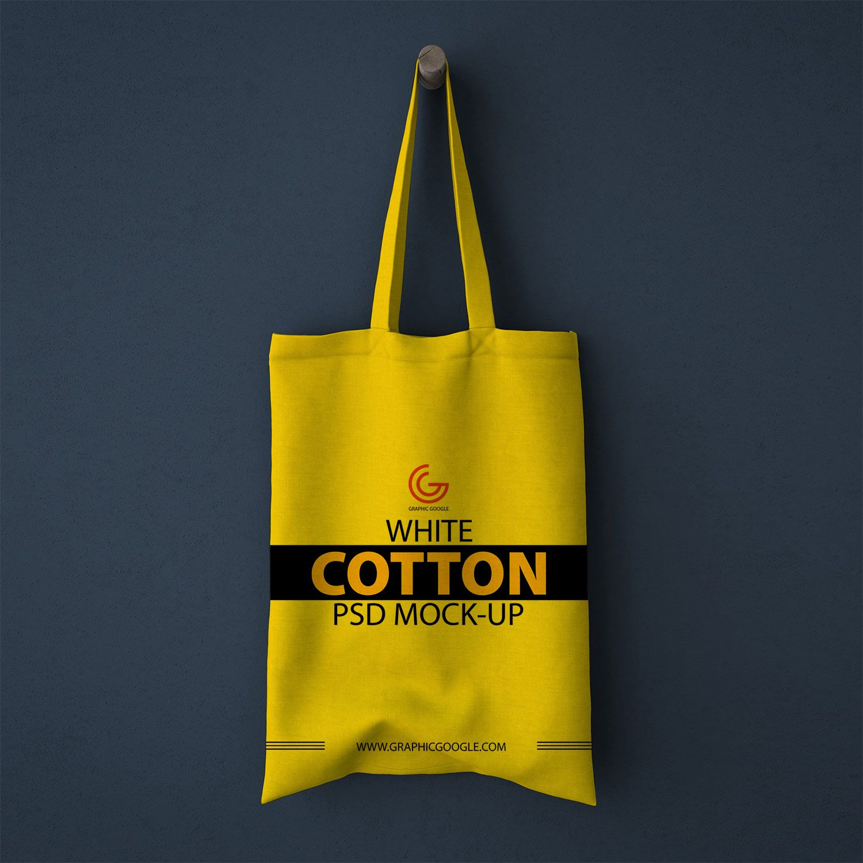 Download Free White Cotton Bag Psd Mockup Free Mockup Bag Mockup Cotton Bag Free Mockup