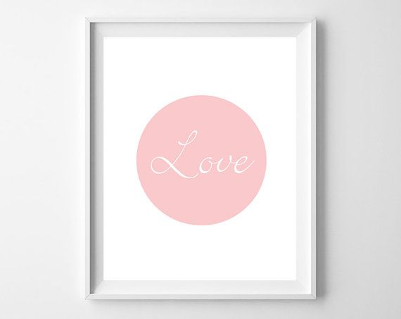 Love Print  Love Art  Minimalist  Simple Art  by KryderPrints, $10.00