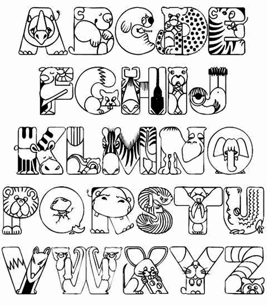 Alphabet Coloring Activity Fresh Collection Alphabet Coloring For Kindergarten Kindergarten Coloring Pages Abc Coloring Pages Abc Coloring
