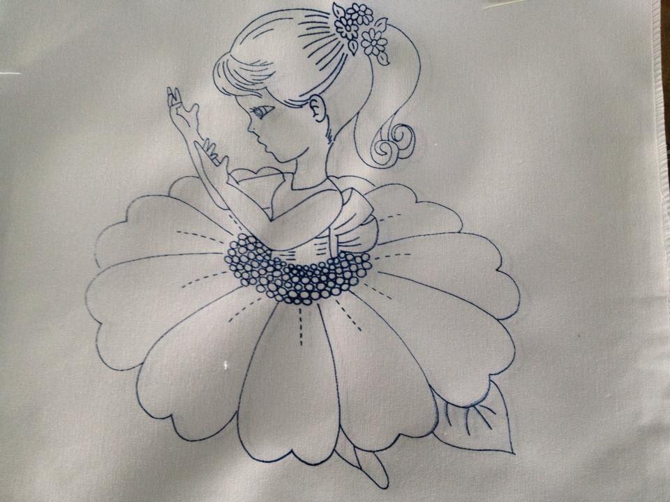 Nina Margarita Fabric Painting Fairy Drawings Fabric Art