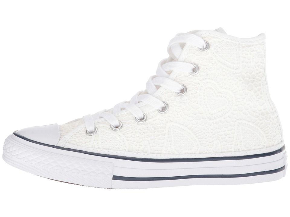 b5bfce224b2fa4 Converse Kids Chuck Taylor(r) All Star(r) Italian Hi (Little Kid Big Kid) Girls  Shoes White Garnet Insignia Blue