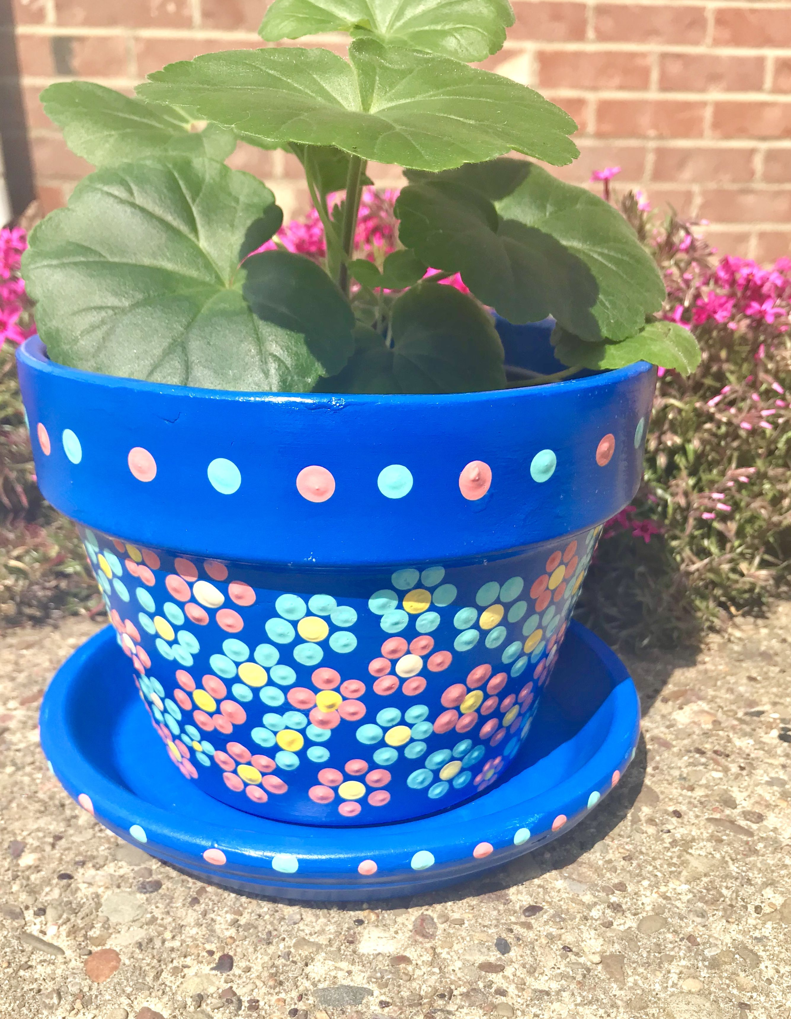 Hand Painted Terra Cotta Pot Decorated Flower Pots Painted Plant Pots Flower Pot Design