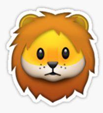 Emoji Lion Pegatina