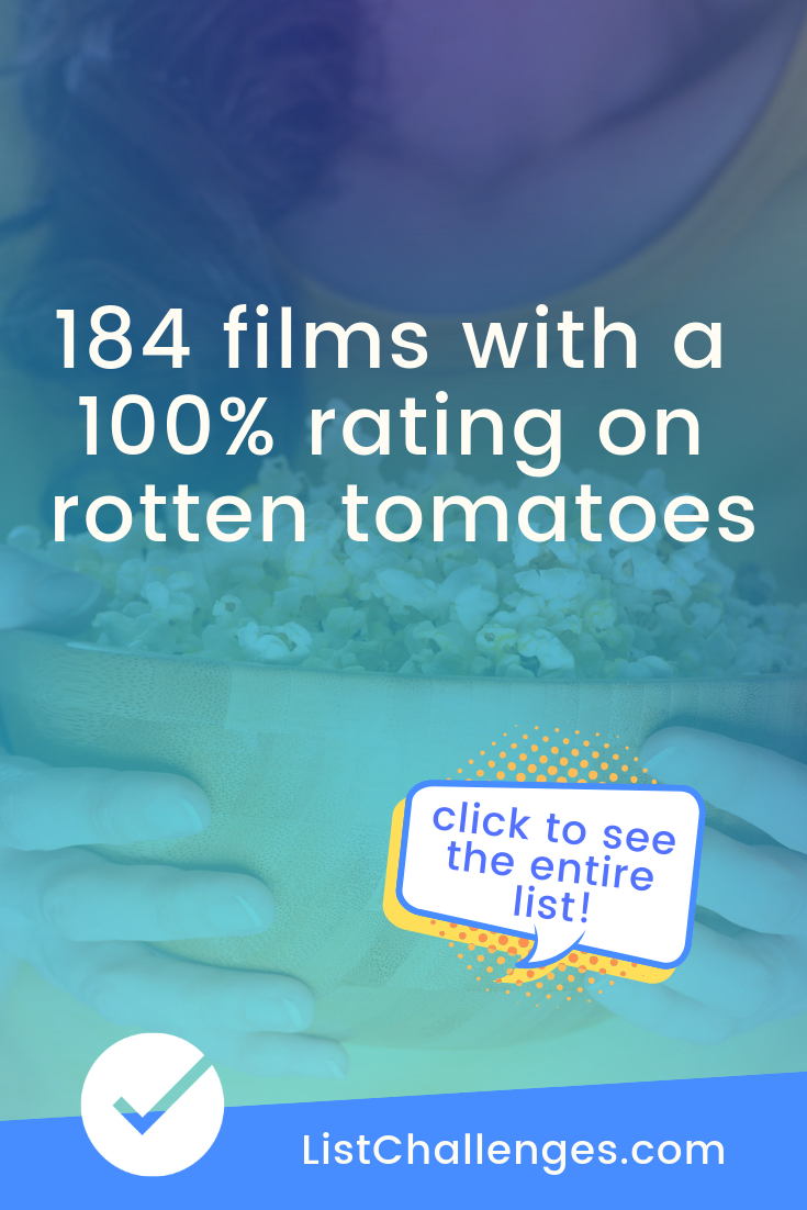 Films With A 100 Rating On Rotten Tomatoes Good Movies To Watch Best Rated Movies Inspirational Movies