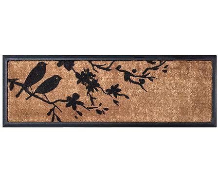 Birds On Flowering Branch Long Doormat Door Mat Flower Branch Birds