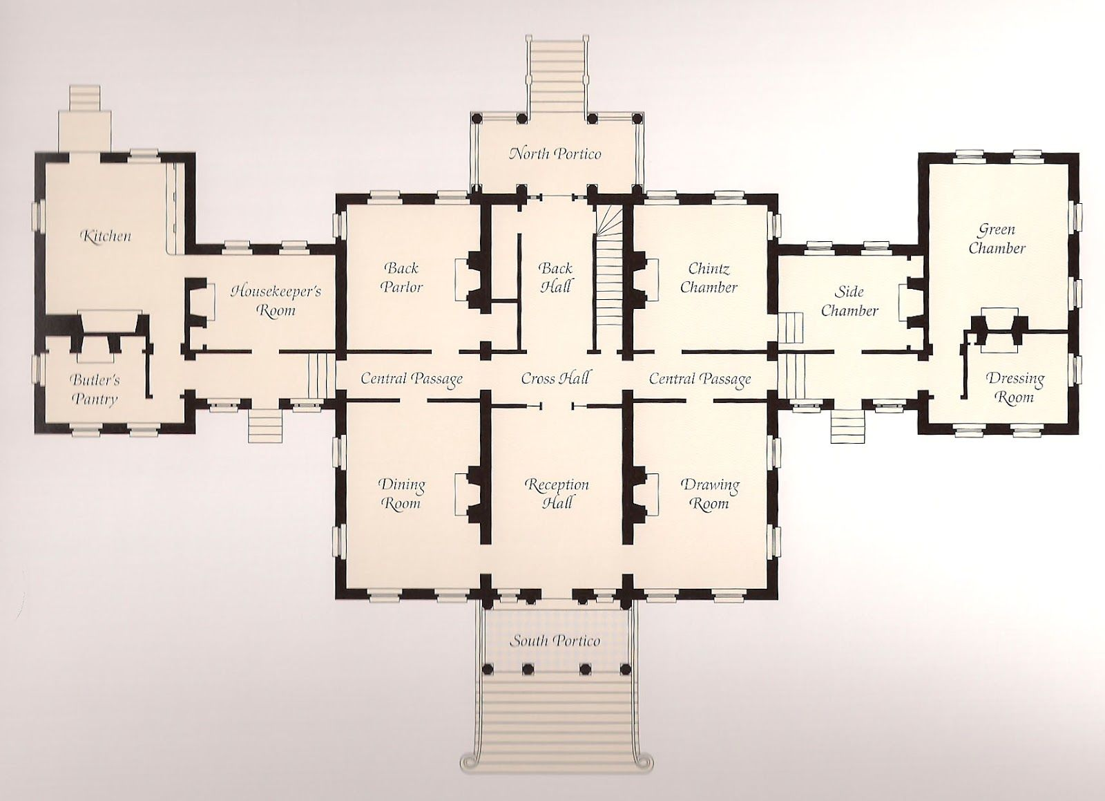 English Country Estates Interior The Main Floor Plan Of