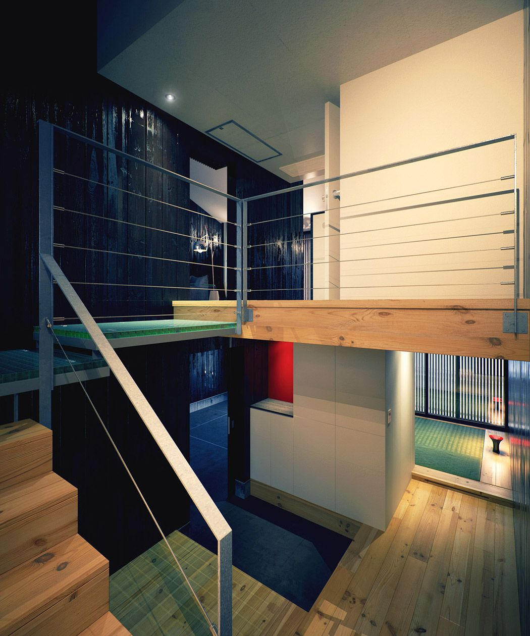 Interior. Appealing Mezzanine Design Ideas: Modern Japanese Home ...