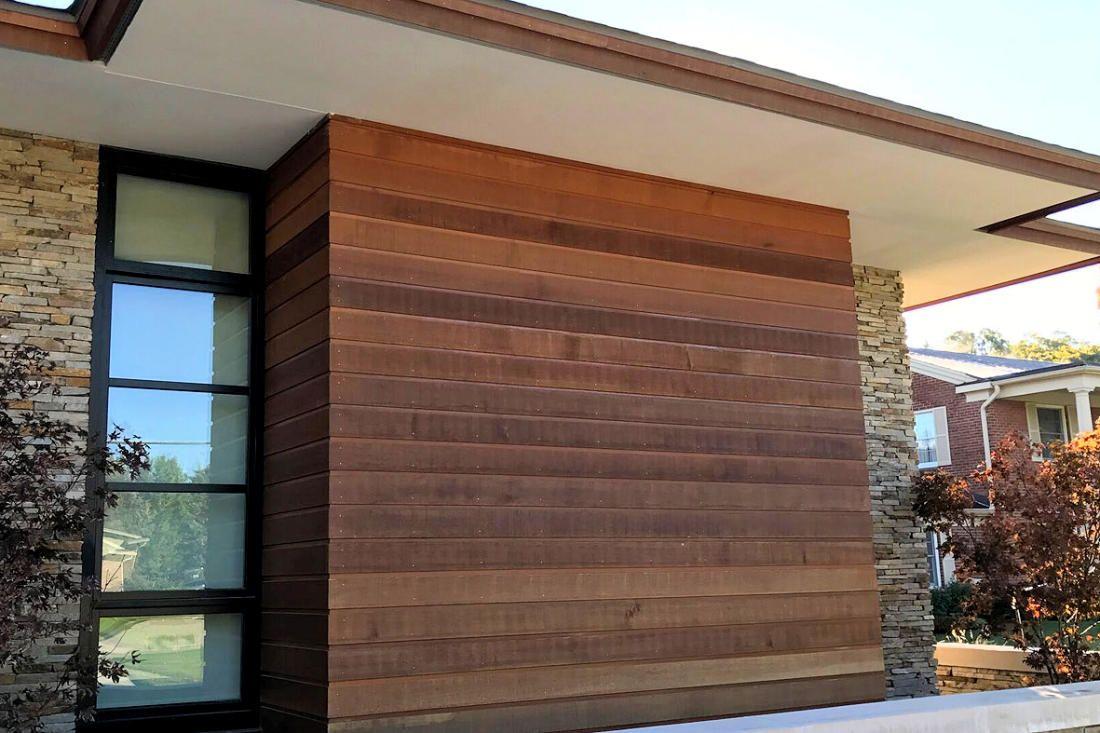 Paint Or Stain Cedar Siding How To Finish Western Red Cedar Real Cedar Exterior Wall Cladding House Exterior House Cladding