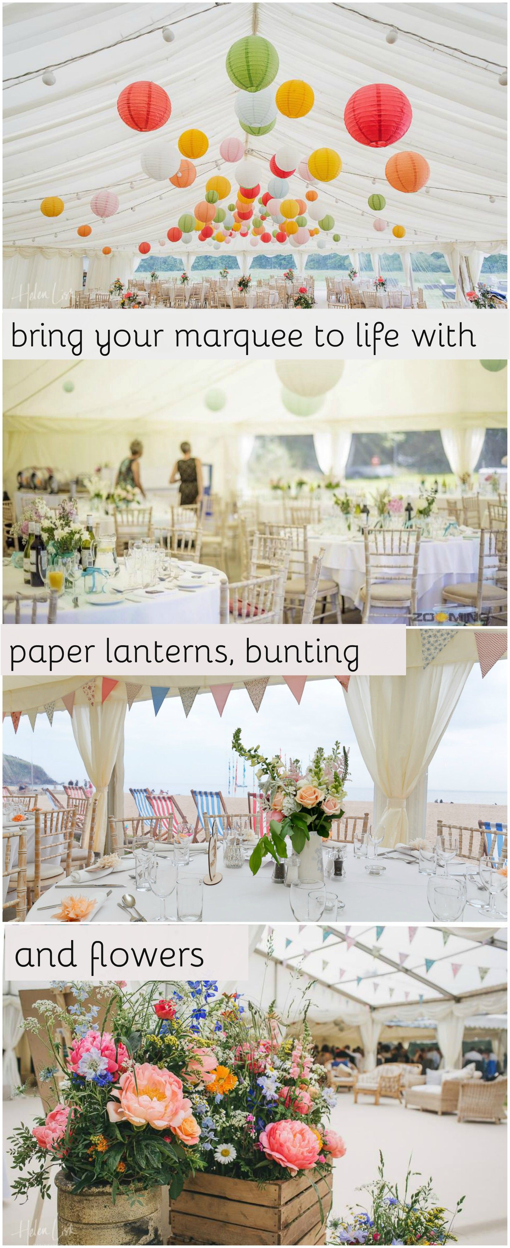 Wedding Marquees | Paper lanterns, Marquee decoration and Marquee hire