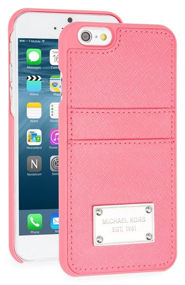 5a8f6855bd2 MICHAEL Michael Kors Card Holder iPhone 6 & 6s Case available at #Nordstrom  - $50