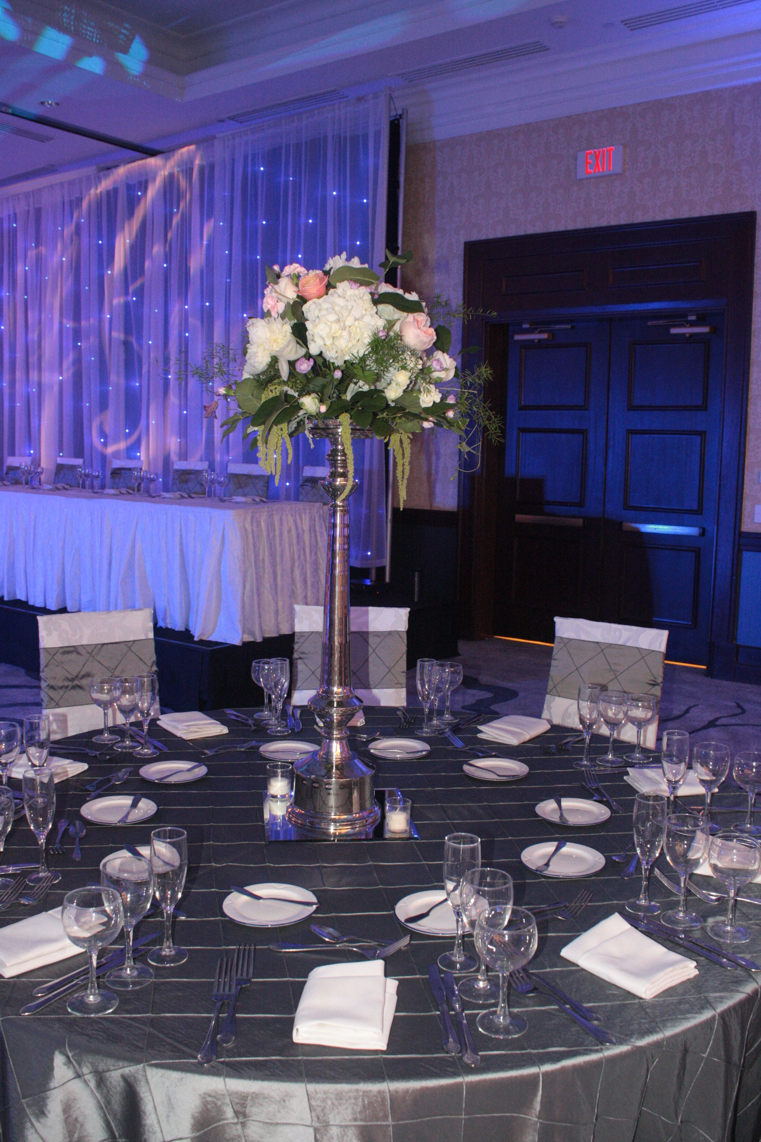 Anna Chair Cover & Wedding Linens Rental Burnaby Bc Wooden Arm Lovely Shades Of Silvers And Platinums With This Charcoal