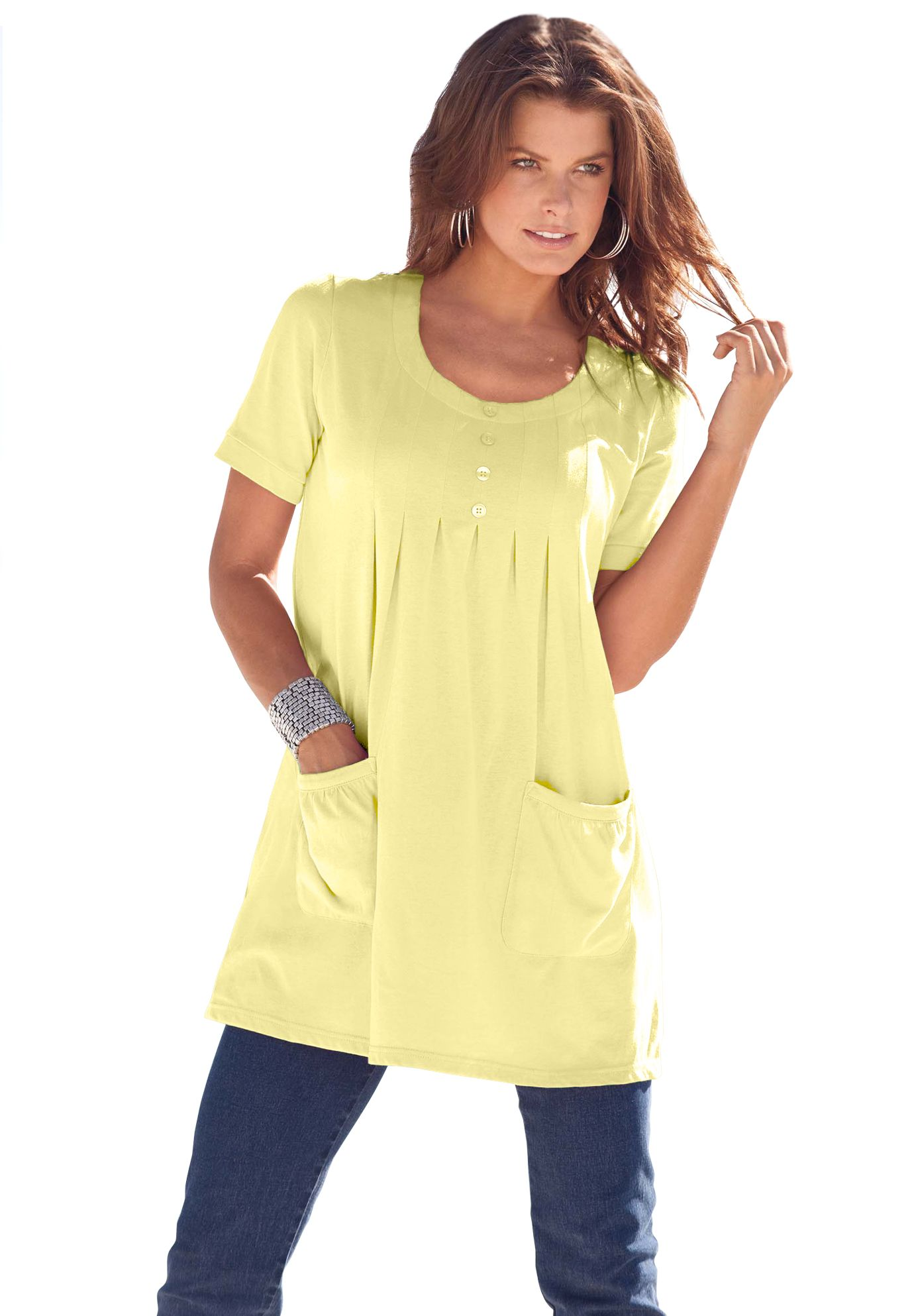 43574eba97d Trapeze Tunic with 2 Pockets | Plus Size Tunics | Roamans | cruising ...
