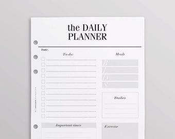 PRINTED Goal Planner   Habit Tracker, Goal Setting, Goal Planning, 2019 Goals   Minimal Planner, A5