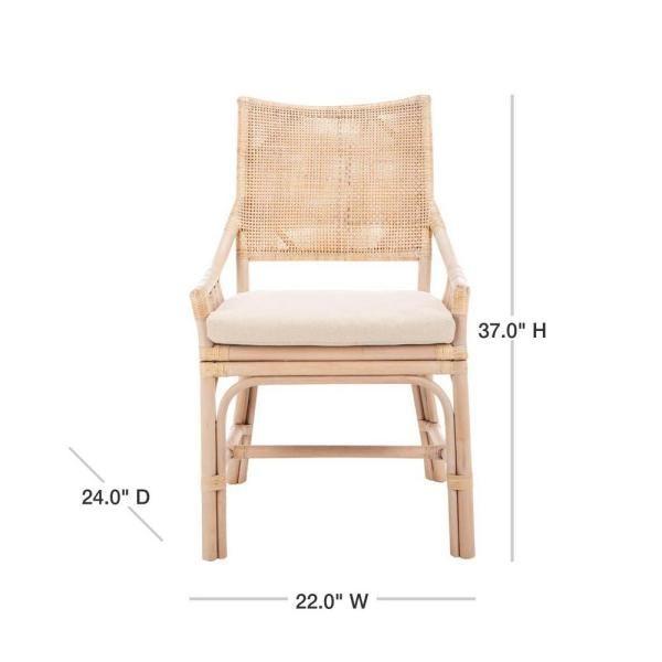 safavieh donatella natural white wash cotton chair