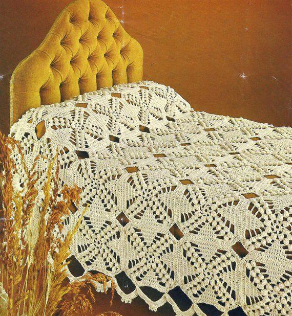 PDF Instant Digital Download crochet bedspread pattern