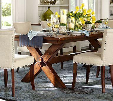 Toscana Extending Dining Table   Dark Brown Or Chestnut Color. Medium Size    40W, Design