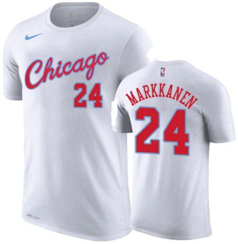 Nike NBA Chicago BULLS Lauri Markkanen 24 City Edition Mens Player Shirt XL   Nike 52f588fab