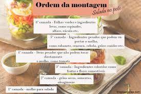 Resultado de imagem para tipos de salada no pote
