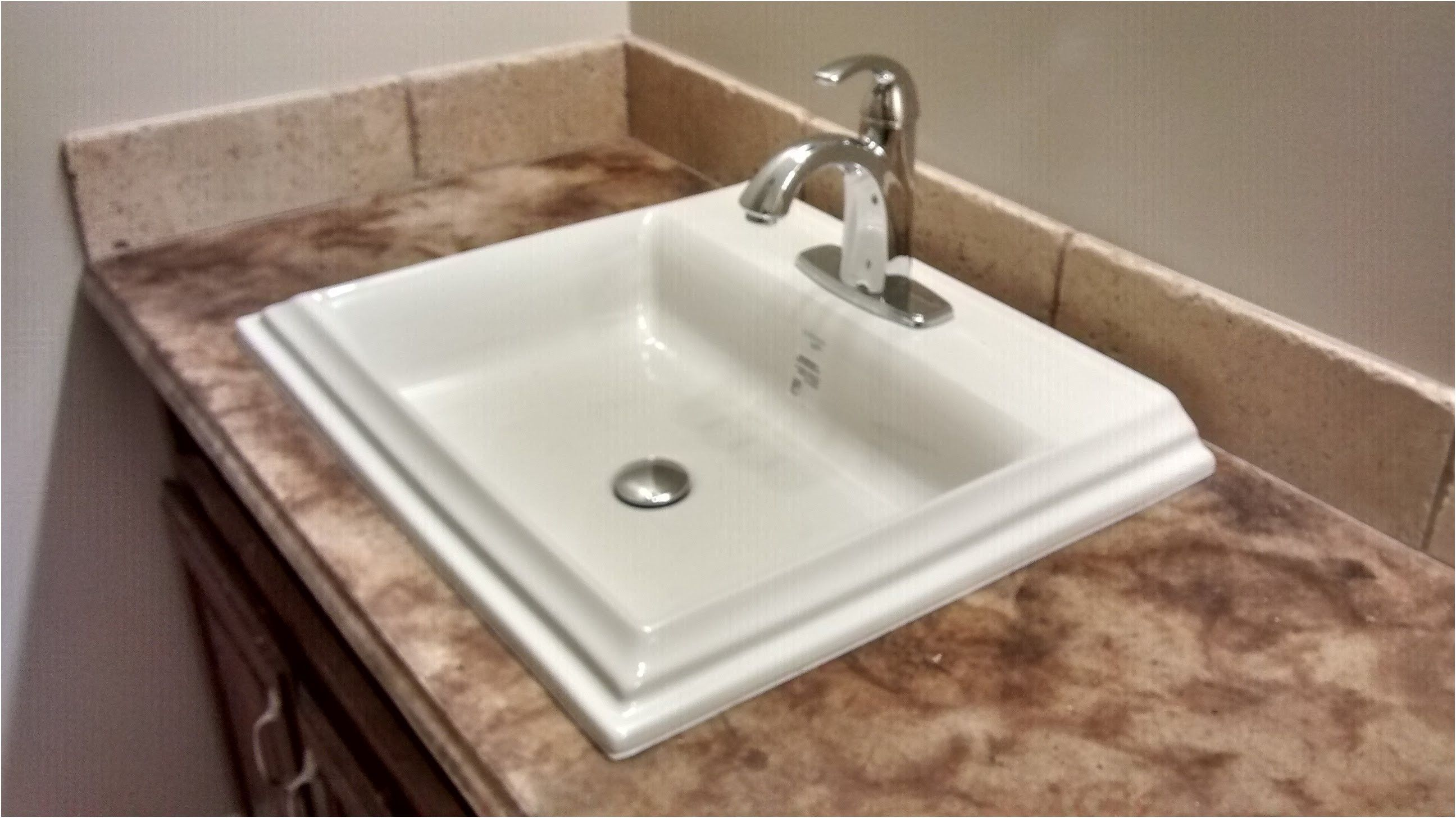 How To Install An Overmount Bathroom Sink Youtube From Overmount