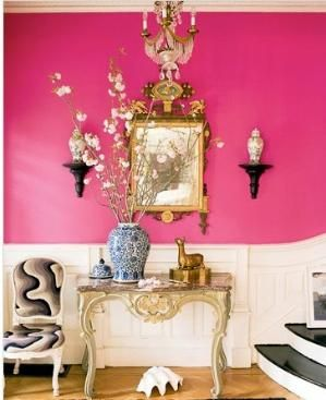Pink foyer by Jonathan Berger by britney