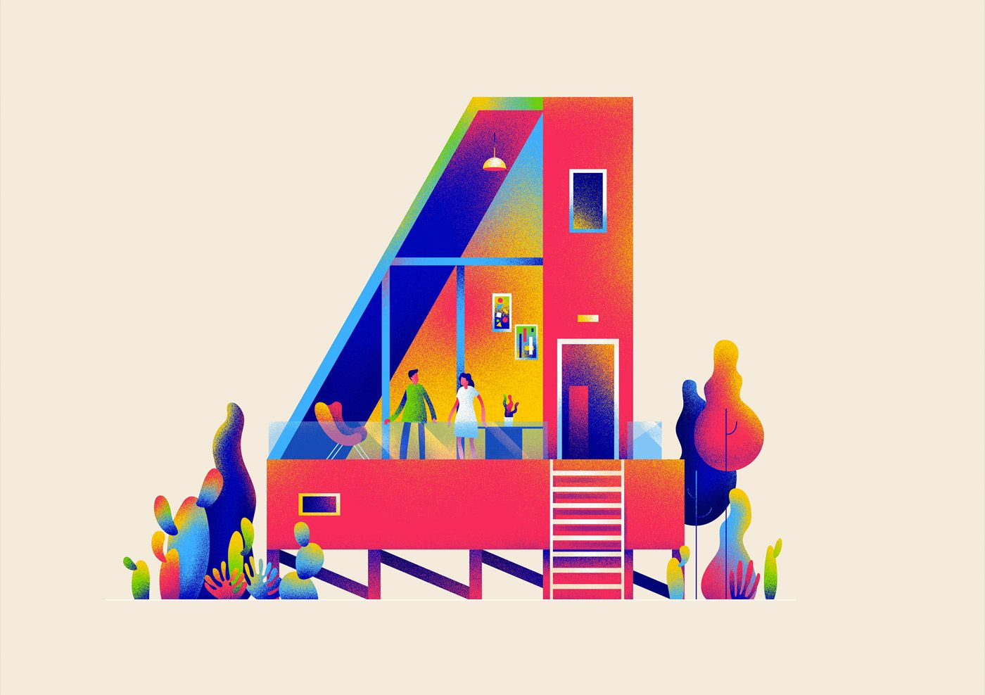 3bff5c5a8d6 Numerical Architecture  Creative Typography by Muhammed Sajid – Inspiration  Grid