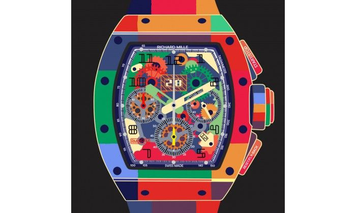 RM011 POP ART Watch on Black - Limited Edition of 20 only