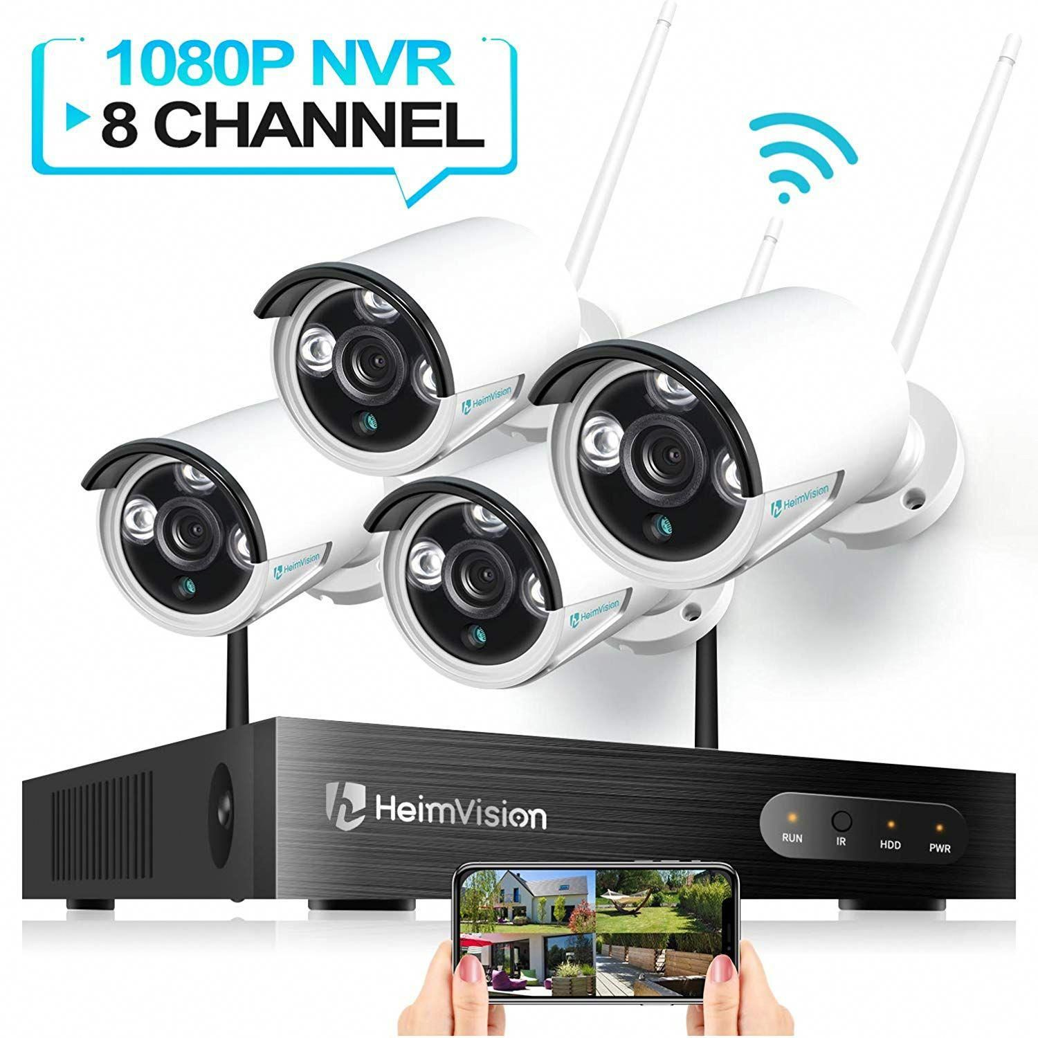 Heimvision Hm241 Wireless Security Camera System 8ch 1080p Nvr 4pcs 960 Wireless Security Camera System Home Security Camera Systems Security Cameras For Home