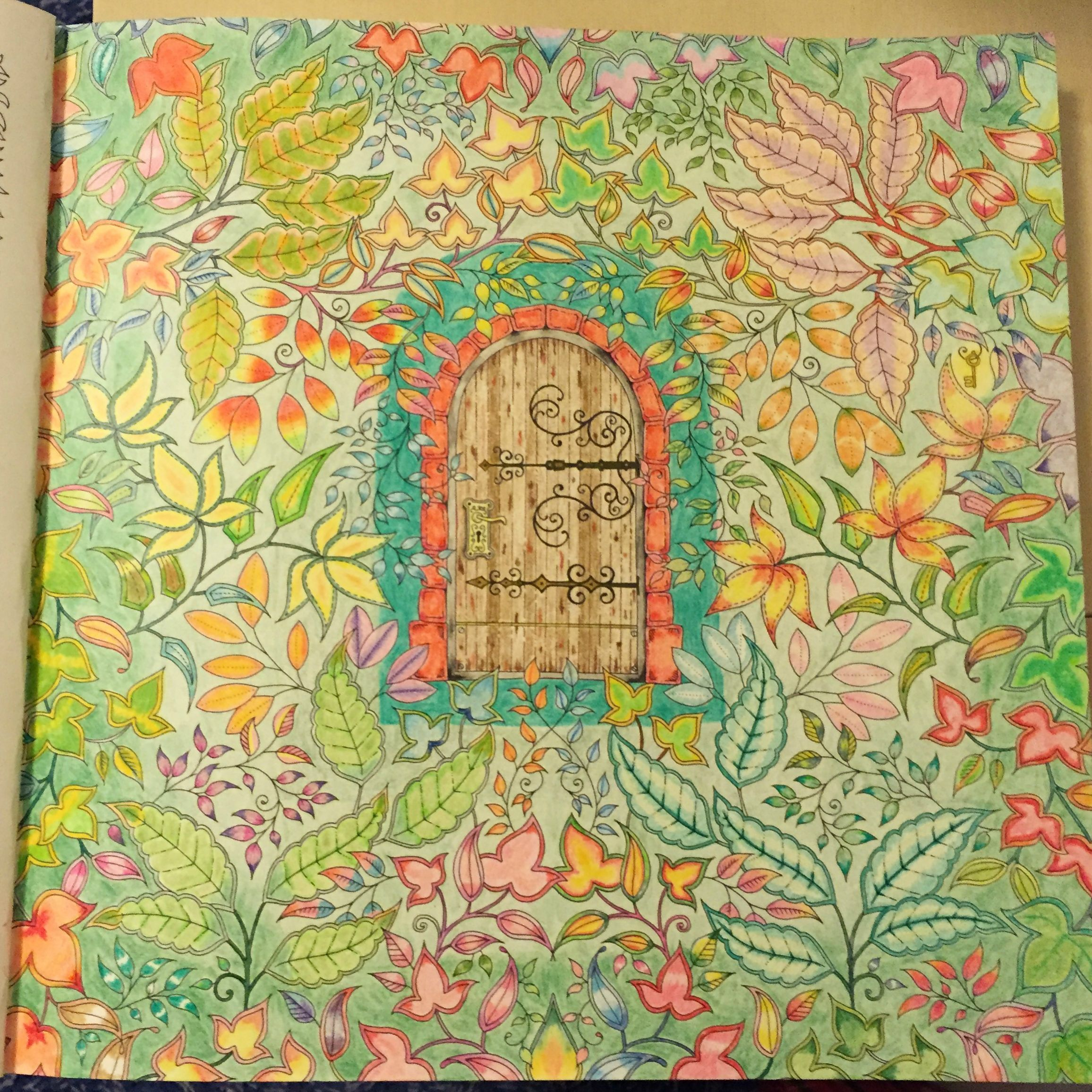 A Page From Secret Garden Colored By Reddit User U Nheea Coloring Adult ColoringColoring BooksCopic