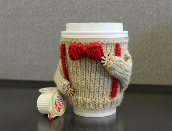 Dr Who coffee cozy. Office decor. Starbucks cup holder. Travel mug cozy. Bow ...
