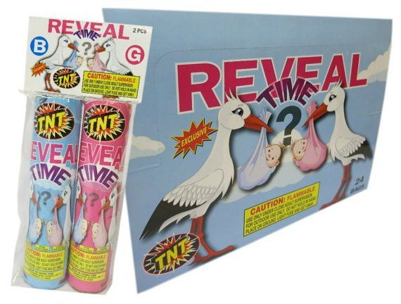 Tnt Reveal Time Gender Reveal Color Smoke Bombs For Newborn Baby