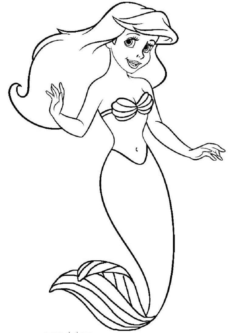 Pin On Ariel Coloring Pages