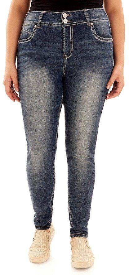 828bdce91dc Wallflower Juniors  Plus Size Wallflower Luscious Curvy Skinny Jeans ...
