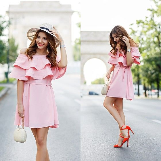 Get this look: http://lb.nu/look/8297055  More looks by Larisa Costea: http://lb.nu/themysteriousgirl  Items in this look:  Chicwish Dress, Shein Straw Hat   #casual #chic #romantic