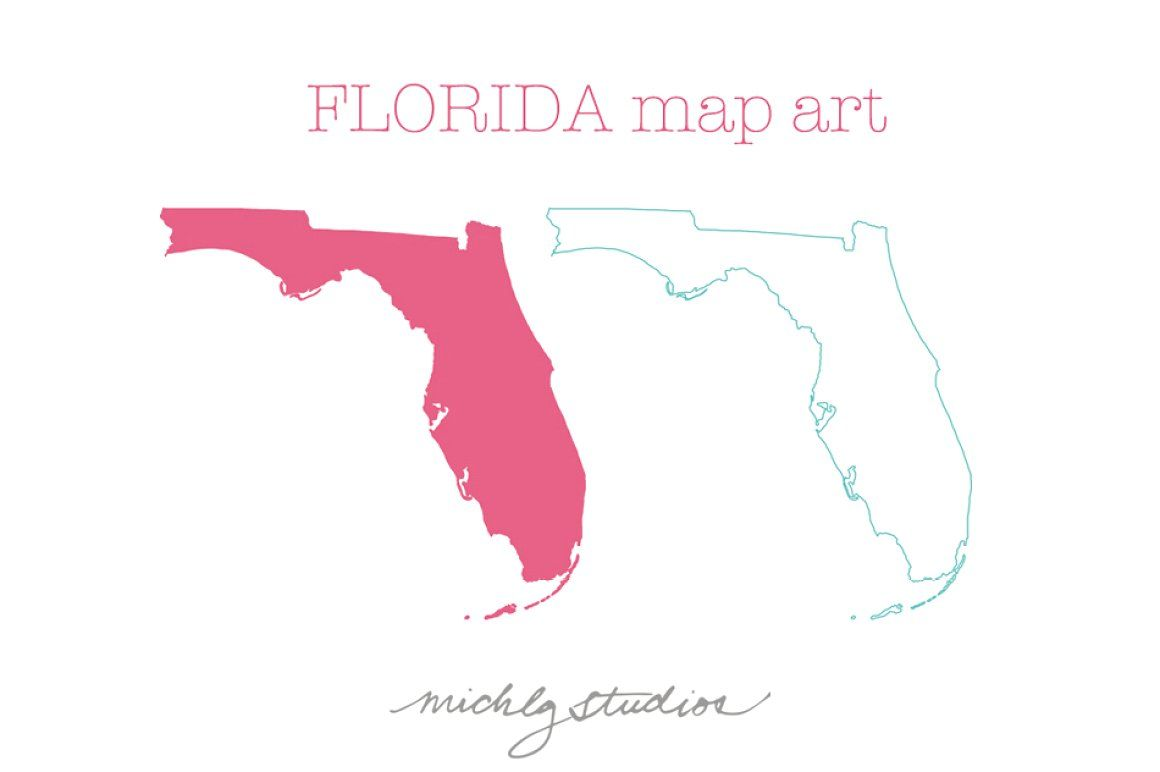 Florida Vector Png Map Art Map Of Florida Map Art Map Sketch