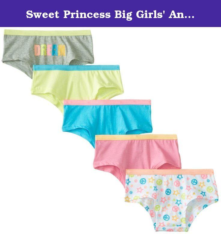 1babc33e048d Sweet Princess Big Girls' Anabelle 5-Pack Underwear, Assorted, Medium. 5  pack boy leg underwear.