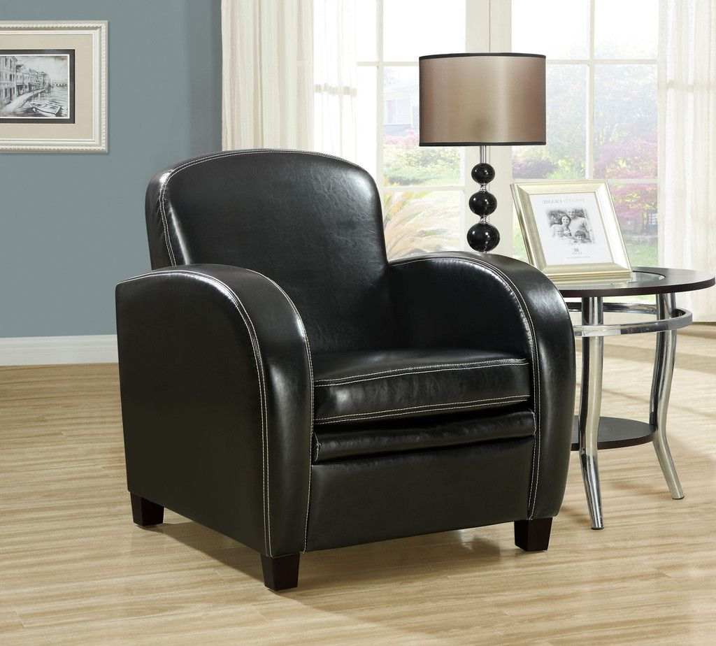 Best Black Leather Look Accent Chair Accent Chairs Chair 400 x 300