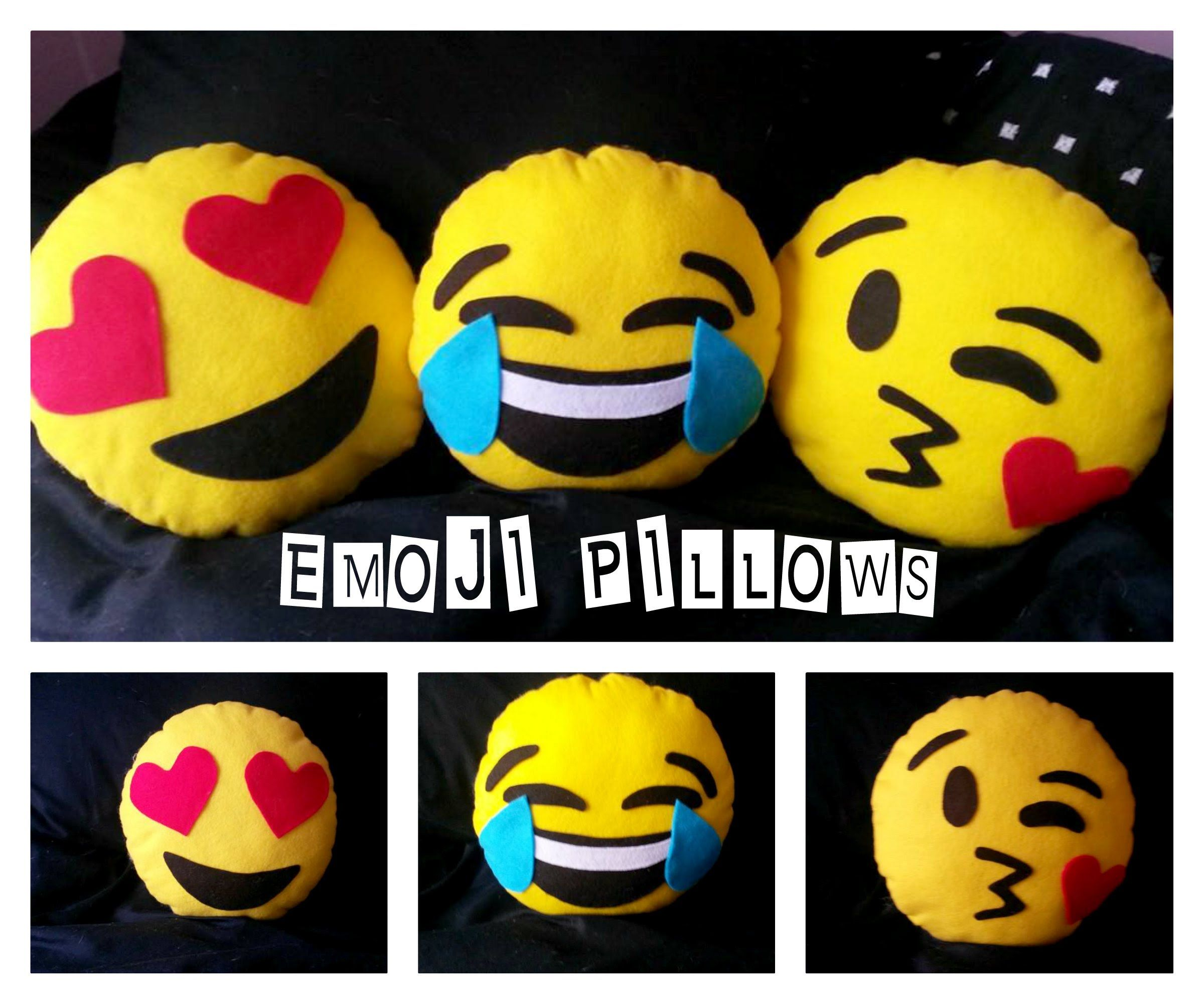how to make emoji face pillows