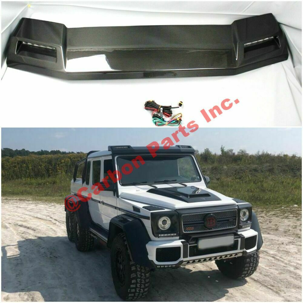 W463 Carbon Front Roof Spoiler Led Brabus 4x4 6x6 Style Mercedes Benz G Class In 2020 Mercedes Benz G Class Benz G Mercedes