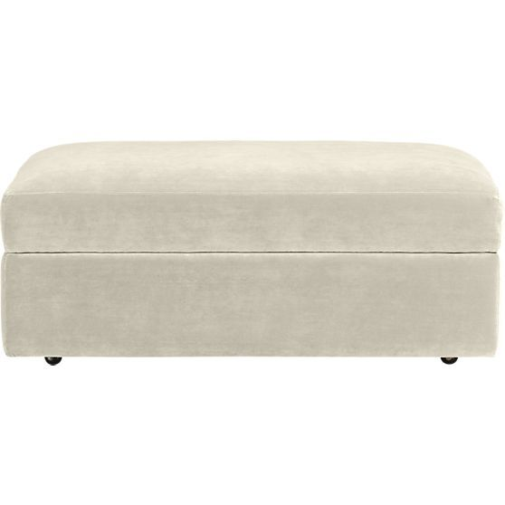 Lounge Storage Ottoman with Casters in Ottomans & Cubes   Crate and Barrel $500